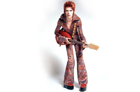 Bowie poses for Sukita in London in 1972.