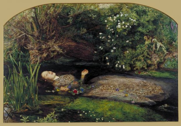 Ophelia 1851-2 by Sir John Everett Millais, Bt 1829-1896