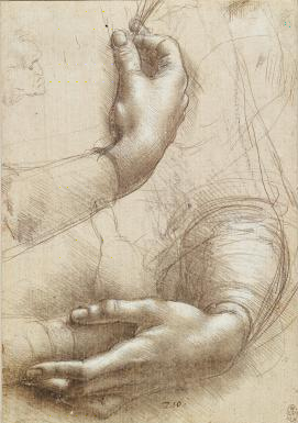 Leonardo da Vinci, Studies of Hands (c.1489), Royal Collection