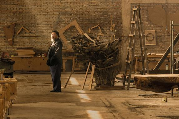 Ai Weiwei in his studio in Caochangdi, Beijing (Harry Pearce/Pentagram)