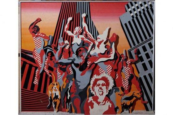 Henri Cueco, Les Hommes Rouges, 1968-9