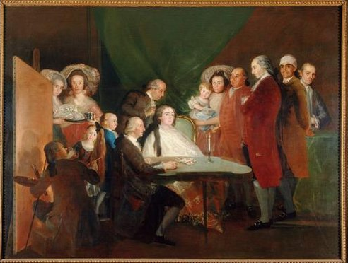 Francisco de Goya, The Family of the Infante Don Luis de Borbón 1783-4. Oil on canvas 248 x 328 cm (Fondazione Magnani Rocca, Parma, Italy )