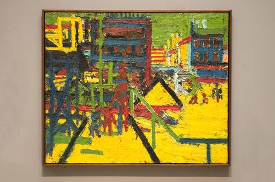 Mornington Crescent, 1967, by Frank Auerbach (Daniel Leal-Olivas)