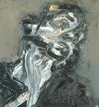 Head of J.Y.M ll, 1984-85, by Frank Auerbach (courtesy Marlborough Fine Art)