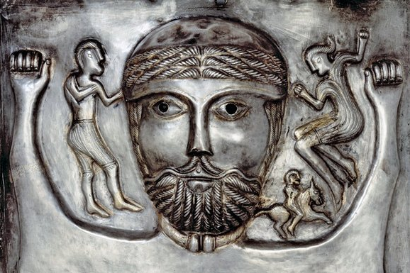 detail from the Gundestrup Cauldron (National Museum of Denmark)