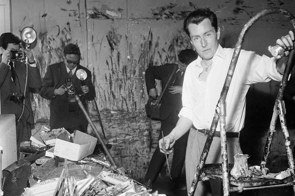The glory years: Buffet in his Paris studio in 1958, at the height of his success (Getty)
