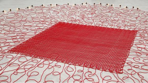 Hatoum's Undercurrent (red) COURTESY KUNSTMUSEUM ST GALLEN, WHITE CUBE © MONA HATOUM