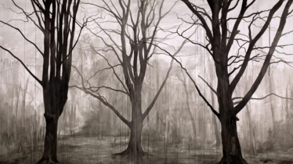 George Shaw, Study for Hanging Around (Landscape Without Figures)