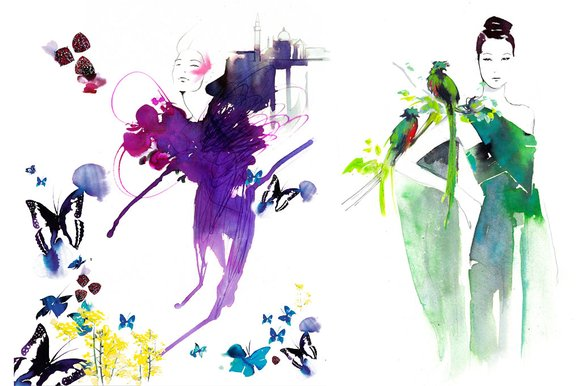 Beauty never disappears: it just changes shape (Illustrations by Amelie Hegardt)