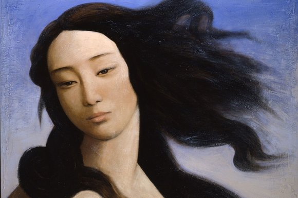 Venus, After Botticelli (2008), by Yin Xin, at the V&A (Private collection, courtesy Duhamel Fine Art, Paris)
