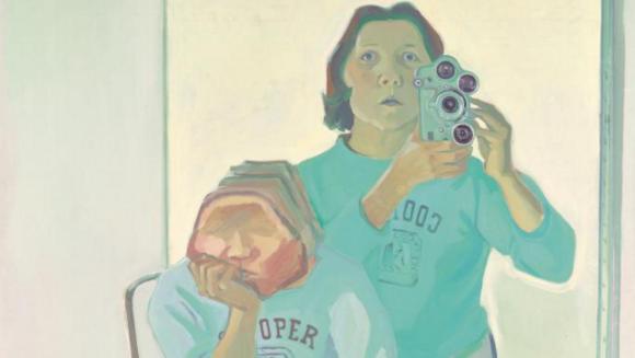 Maria Lassnig, Double Self-Portrait with Camera (1974)