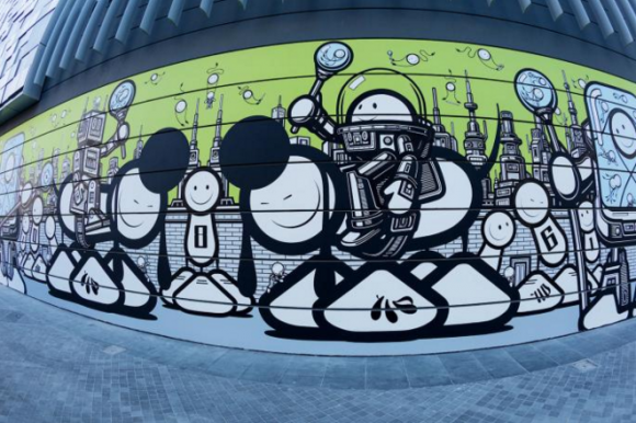 Mural by the London Police